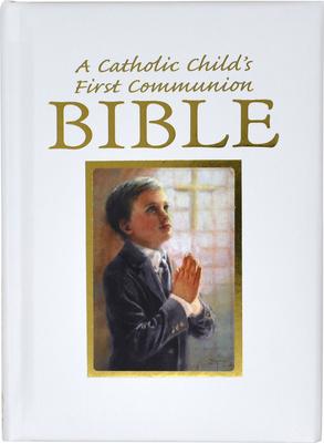 Catholic Child's First Communion Gift Bible-NAB-Boy (Regina Press) Cover Image