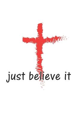 Just believe it: Notizbuch Geschenk-Idee - Karo - A5 - 120 Seiten Cover Image