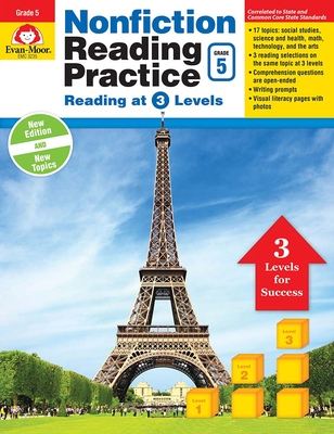 Nonfiction Reading Practice, Grade 5 Cover Image