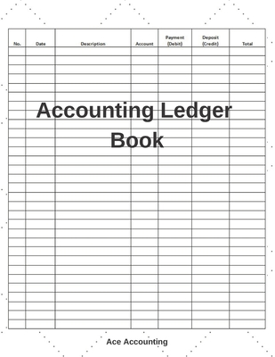 Accounting Ledger Book: A Simple Accounting Ledger Notebook for Bookkeeping Cover Image