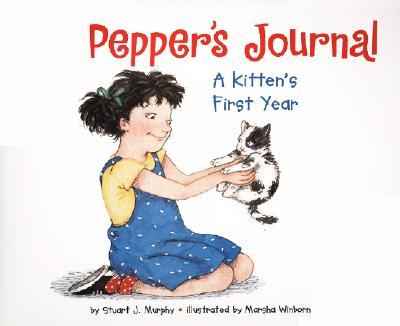 Pepper's Journal: A Kitten's First Year (MathStart 2) Cover Image