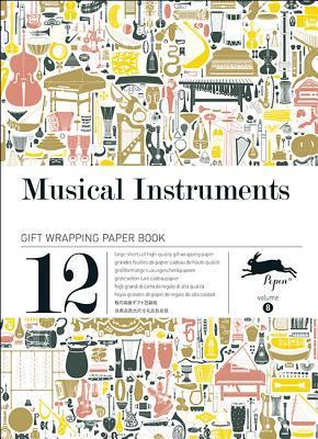 Musical Instruments: Gift Wrapping Paper Book Vol.8 Cover Image