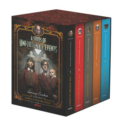 A Series of Unfortunate Events #5-9 Netflix Tie-in Box Set Cover Image