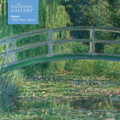 Adult Jigsaw Puzzle National Gallery Monet: Bridge Over Lily Pond: 1000-Piece Jigsaw Puzzles Cover Image