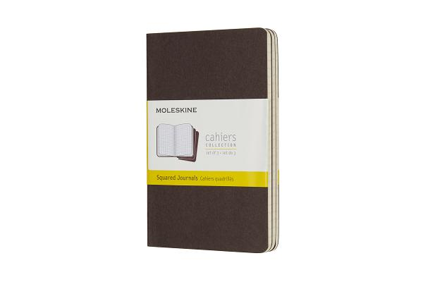 Moleskine Cahier Journal, Pocket, Square, Coffee Brown (3.5 x 5.5) Cover Image