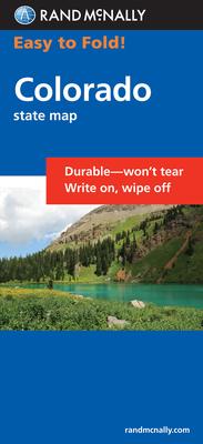 Rand McNally Easy to Fold Colorado: Colorado (Laminated Fold Map) (Easyfinder S) Cover Image