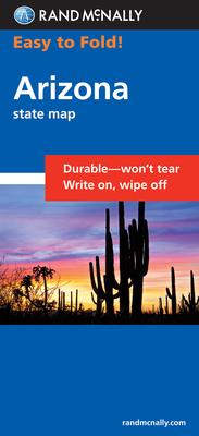 Rand McNally Easy to Fold: Arizona (Laminated Fold Map) (Rand McNally Easyfinder) Cover Image