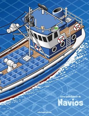 Livro para Colorir de Navios Cover Image