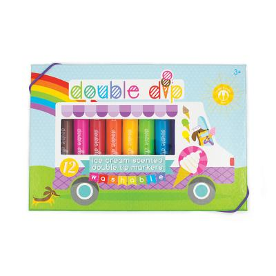 Double Dip Scented Markers - Set of 12 Cover Image