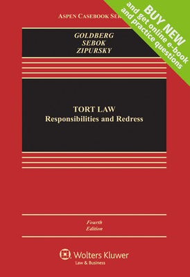 Tort Law: Responsibilities and Redress (Aspen Casebook) Cover Image