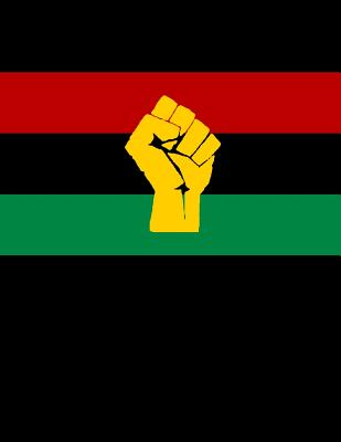 Black Power Pan-African Flag Notebook: African- American Juneteenth Composition Journal Cover Image