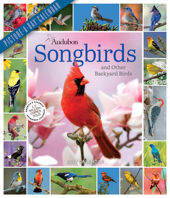Audubon Songbirds and Other Backyard Birds Picture-A-Day Wall Calendar 2022 Cover Image