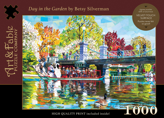 Day in the Garden: 1000-Piece Velvet-Touch Jigsaw Puzzle [With Print] Cover Image