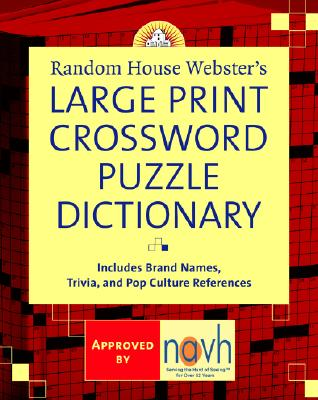 Random House Webster's Large Print Crossword Puzzle Dictionary Cover Image