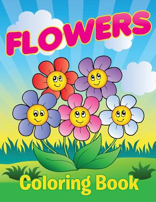 Flowers Coloring Book Cover Image