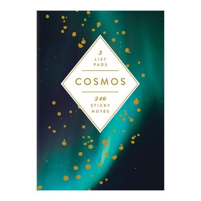 Cosmos Hardcover Book of Sticky Notes Cover Image