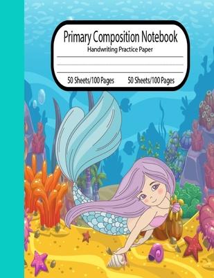 Composition notebook Mermaid Handwriting Practice - 8.5