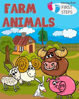 farm Animals Coloring Book: farm animals books for kids & toddlers - Boys & Girls - activity books for preschooler - kids ages 1-3 2-4 3-5 Cover Image