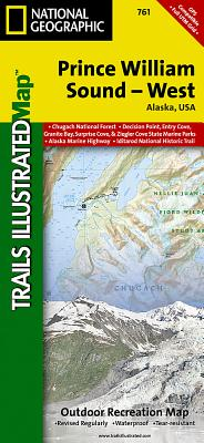 Prince William Sound West (National Geographic Trails Illustrated Map #761) Cover Image