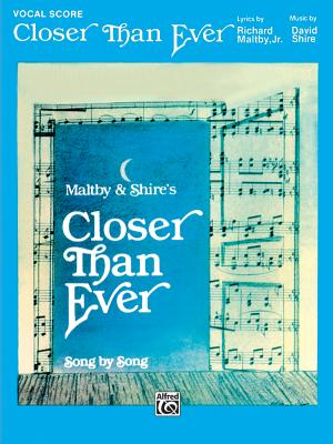 Closer Than Ever: Vocal Score Cover Image