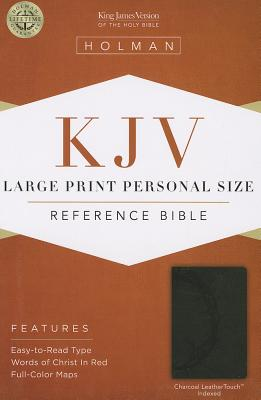 Cover for KJV Large Print Personal Size Reference Bible, Charcoal LeatherTouch Indexed