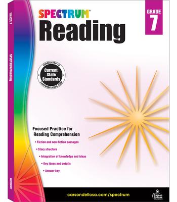Spectrum Reading G.7 Workbook, Grade 7 Cover Image