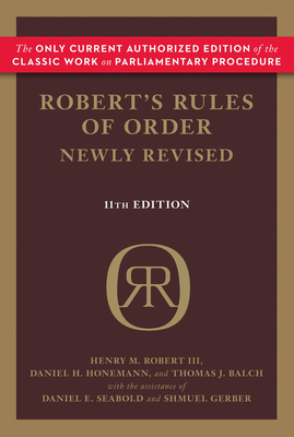 Robert's Rules of Order Newly Revised, 11th edition Cover Image