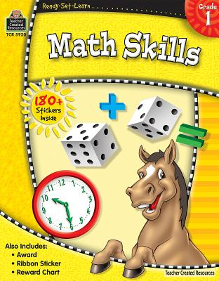 Ready-Set-Learn: Math Skills Grd 1 [With 180+ Stickers] Cover Image