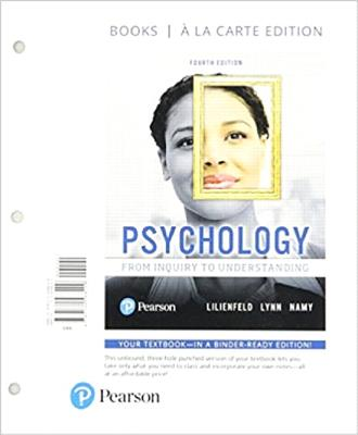 Psychology: From Inquiry to Understanding -- Print Offer [loose-Leaf] Cover Image