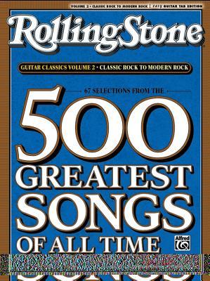 RollingStone guitar classics, volume 2: Classic Rock to Modern Rock Cover Image