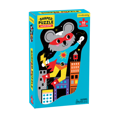 Superhero 50 Piece Shaped Character Puzzle Cover Image