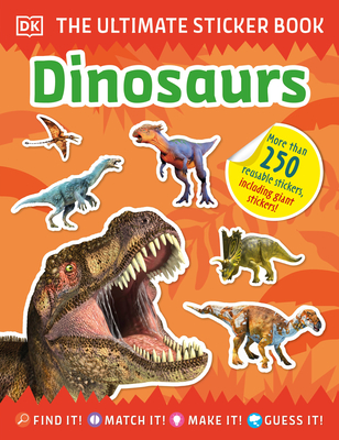 The Ultimate Sticker Book Dinosaurs Cover Image