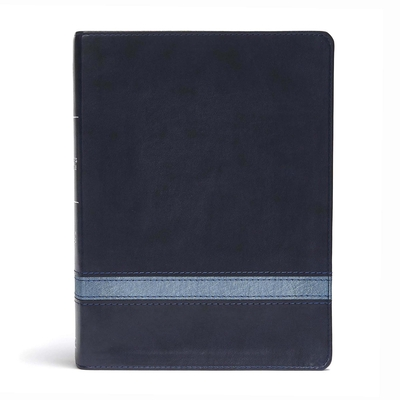 CSB Apologetics Study Bible, Navy LeatherTouch: Black Letter, Defend Your Faith, Study Notes and Commentary, Ribbon Marker, Sewn Binding, Easy-to-Read Bible Serif Type Cover Image
