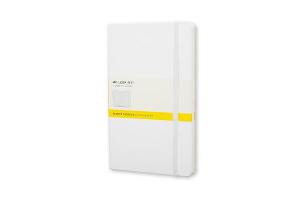 Moleskine Classic Notebook, Large, Squared, White, Hard Cover (5 x 8.25) (Classic Notebooks) Cover Image