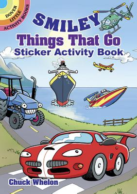 Smiley Things That Go Sticker Activity Book (Dover Little Activity Books) Cover Image