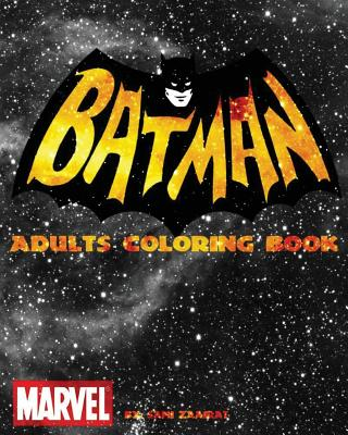 Batman: Adults coloring book Cover Image