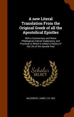 Cover for A New Literal Translation from the Original Greek of All the Apostolical Epistles