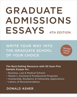 Graduate Admissions Essays Cover
