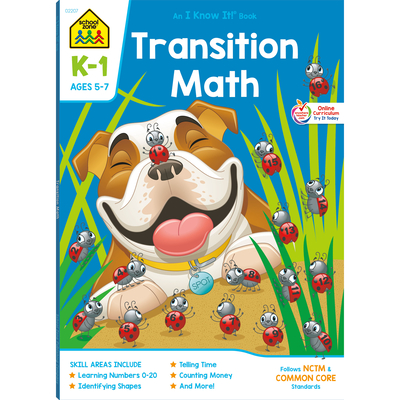 Transition Math K-1 Deluxe Edition Workbook Cover Image