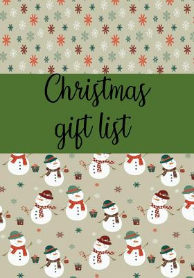 Christmas Gift List: Notebook to Make Your Christmas List: Gifts You Are Going to Purchase for Everyone: 7