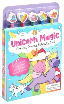 Unicorn Magic Pencil Toppers: Drawing, Coloring & Activity Book Cover Image
