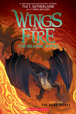 The Dark Secret (Wings of Fire Graphic Novel #4): A Graphix Book Cover Image