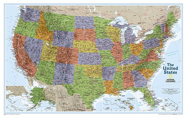 National Geographic: United States Explorer Wall Map (32 X 20.25 Inches) (National Geographic Reference Map) Cover Image