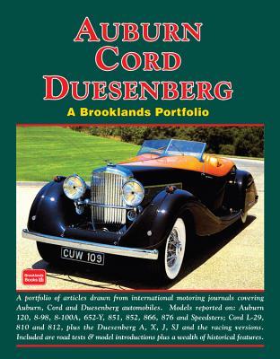 Auburn Cord Duesenberg (A Brooklands Portfolio) Cover Image