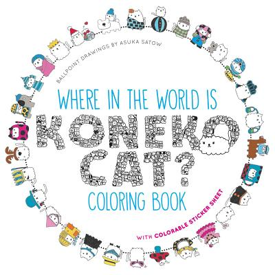 Cover for Where in the World Is Koneko Cat? Coloring Book