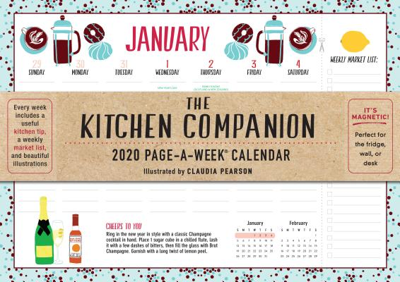 Kitchen Companion Page-A-Week Calendar 2020 Cover Image