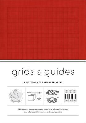Grids & Guides (Red): A Notebook for Visual Thinkers (stylish clothbound journal for design, architecture, and creative professionals and students) Cover Image