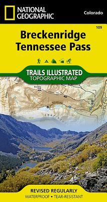 Breckenridge, Tennessee Pass (National Geographic Trails Illustrated Map #109) Cover Image