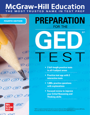 McGraw-Hill Education Preparation for the GED Test, Fourth Edition Cover Image