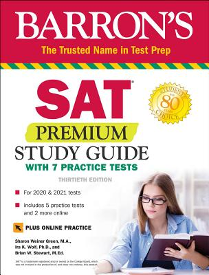SAT Premium Study Guide with 7 Practice Tests (Barron's Test Prep) Cover Image